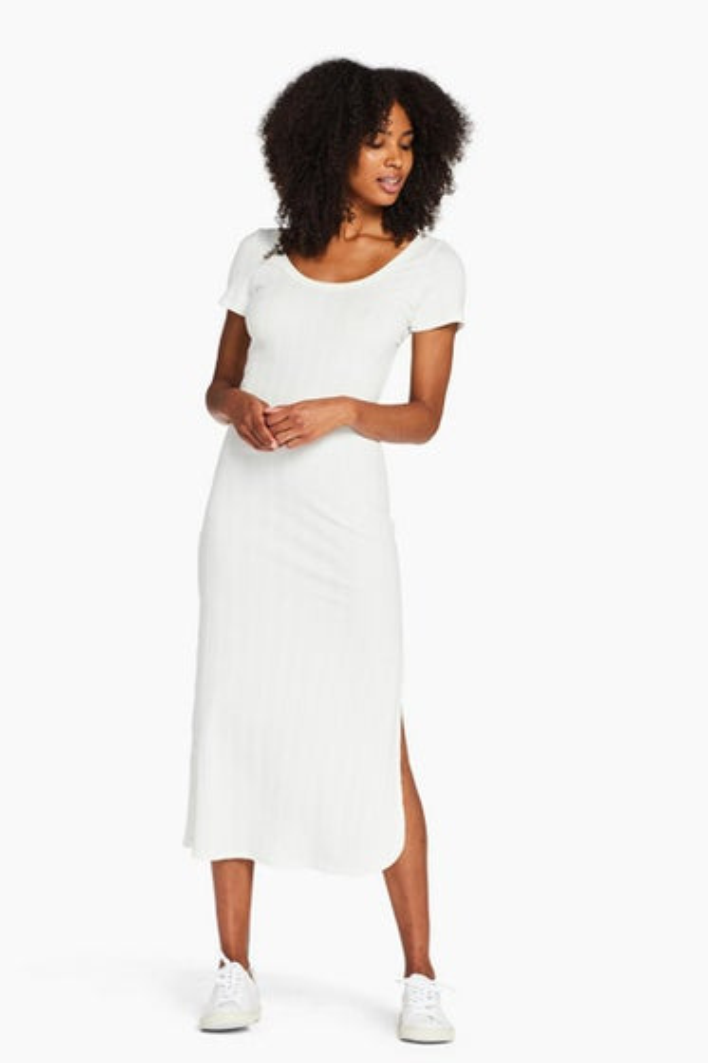 Vitamin A Organic Rib white Catalina Dress