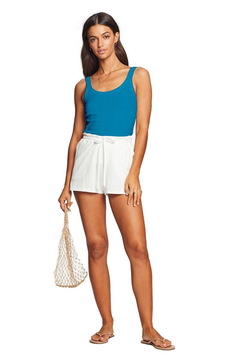 Vitamin A Organic Rib White Thalia Shorts