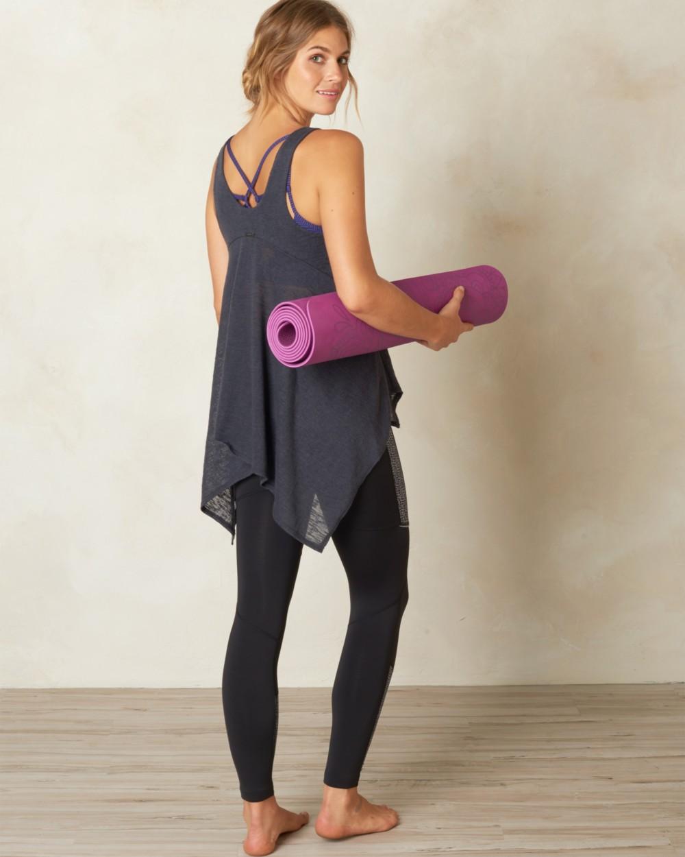 2016 Prana Yoga Clothing Whisper Yoga Tank in Coal