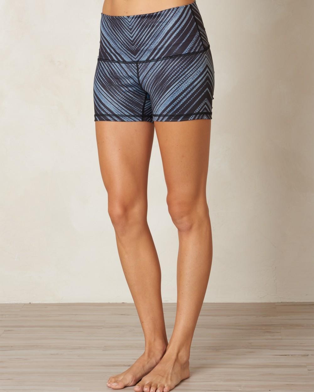2016 Prana Luminate Short in Black Stripe