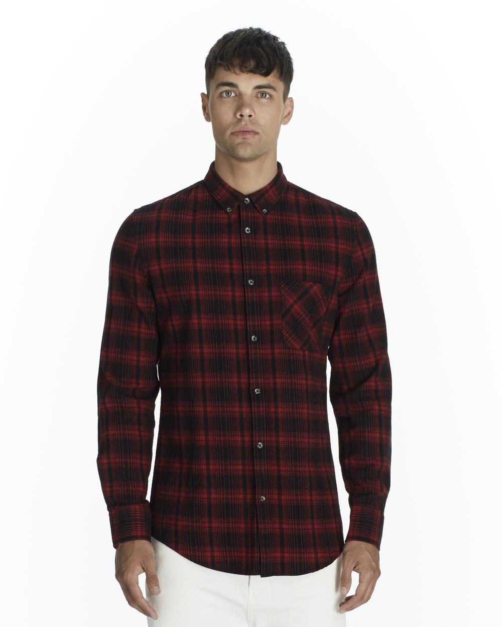 Zanerobe Seven Foot LS Shirt Red Flanno